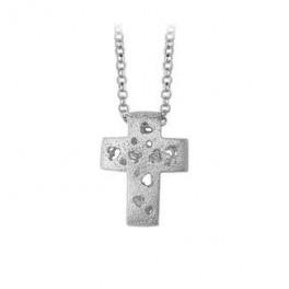 AAGAARD sølv halskæde med satineret kors-20