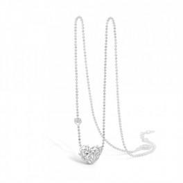 BLOSSOM halskæde i sølv, hjerte-20