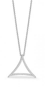 AAGAARD sølv halskæde med trekant-20