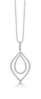 AAGAARD rhodineret sølv halskæde med syn. zirk.-20