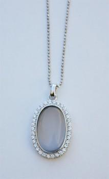 AAGAARD sølv halskæde med katteøje-20