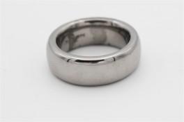 Sort rhodineret ring, bred, fra Aagaard-20