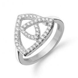 AAGAARD sølv ring med synt. zirk.-20