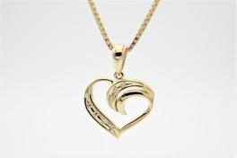 Hearts 14 kt halskæde, swirll-20