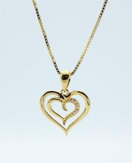 Hearts halskæde, forgyldt-20