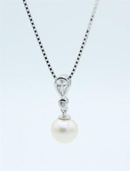 Pearl halskæde, sølv-20