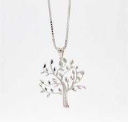 Tree of Life stor sølv halskæde-20