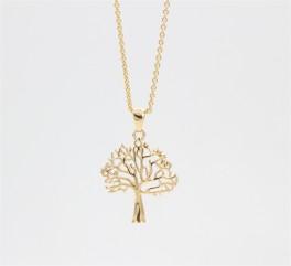 Tree of Life 14 kt halskæde, buet-20