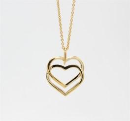 Hearts 8 kt halskæde, dobbelt-20