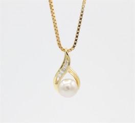 Pearl 8 kt halskæde, swing-20