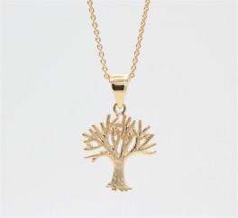 Tree of Life 14 kt halskæde, mat-20