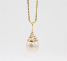 Pearl 14 kt halskæde, eksklusiv-20
