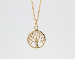 Tree of Life 14 kt halskæde, simple-20