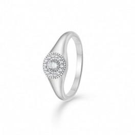 Rosette ring i sølv-20