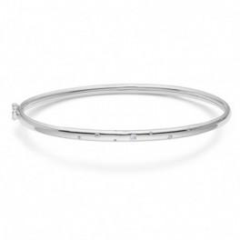 Circlet, sølv armring m. zirkoner-20