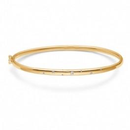 Circlet, 8 kt. guld armring m. zirkoner-20