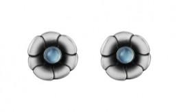 MOONLIGHT BLOSSOM øreclips med rund månesten-20
