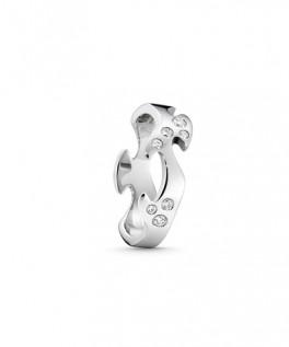 FUSION ring midterstykke hvidguld med diamanter-20