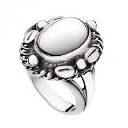 MOONLIGHT BLOSSOM ring med oval sølvsten-20