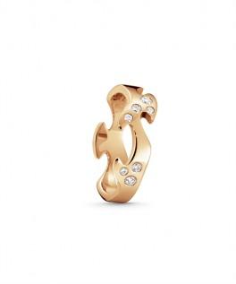 FUSION ring midterstykke rosaguld med diamanter-20