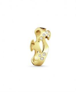 FUSION ring midterstykke rødguld med diamanter-20