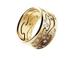 FUSION ring endestykke rødguld m. diamanter AA-20