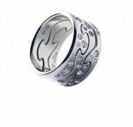 FUSION ring endestykke hvidguld m. diamanter AA-20