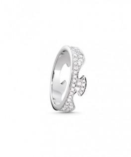 FUSION ring endestykke hvidguld paveret-20