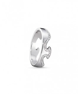 FUSION ring endestykke hvidguld diamantkant-20