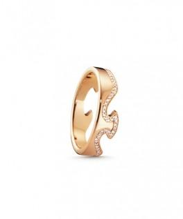 FUSION ring endestykke rosaguld diamantkant-20