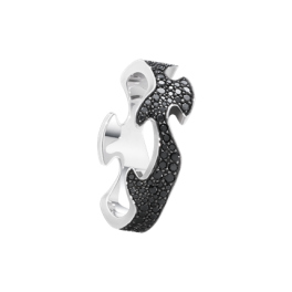 FUSION ring midterstykke hvidguld med sorte diamanter-20