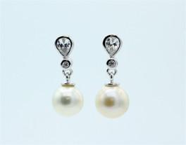 Pearl ørehængere, sølv-20