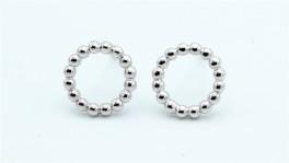 Circle ørestikker, sølv-20