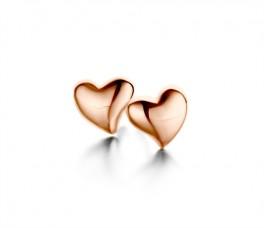 Heart ørestikker rosa-20