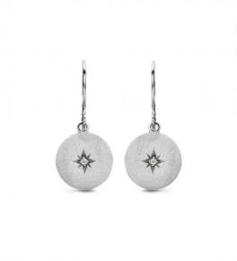 North Star Diamond ørehængere, sølv-20