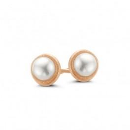 Pearl ørestikker rosa forgyldt-20