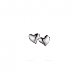Heart ørestikker sølv-20
