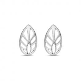Leaf ørestikker sølv-20