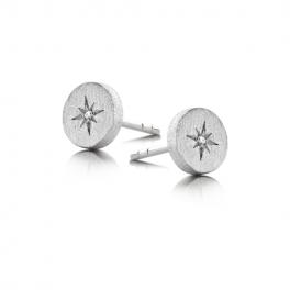 North Star Diamond ørestikker, sølv-20