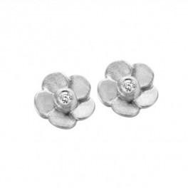 Bloom ørestikker, hvidguld-20