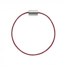 Armbånd sølv rød-20