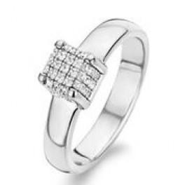 Sølv ring med firkant og zirk.-20