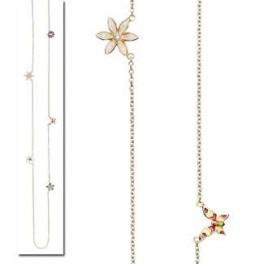 forgyldt halskæde med blomster-20