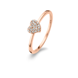 Glowing Heart ring rosa forgyldt-20