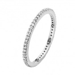 Chic ring, hvidguld 1,5 mm-20