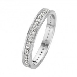 Chic ring, hvidguld 3 mm-20
