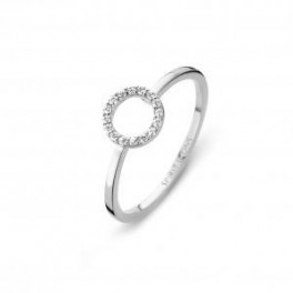 Halo ring, hvidguld-20