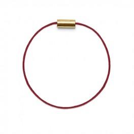 Armbånd guld rød-20