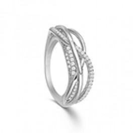 KRANZ and ZIEGLER sølv ring, unik, med zirk.-20