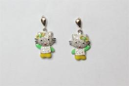 Sølv ørehængere med Hello Kitty-20